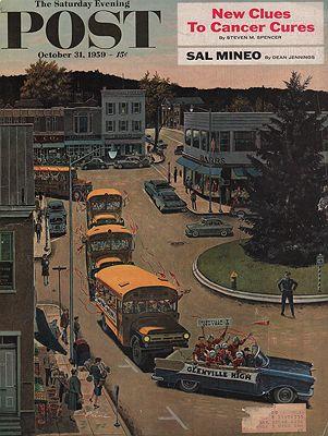 ORIG. VINTAGE MAGAZINE COVER/ SATURDAY EVENING POST - OCTOBER 31 1959illustrator- Ben  Prins - Product Image