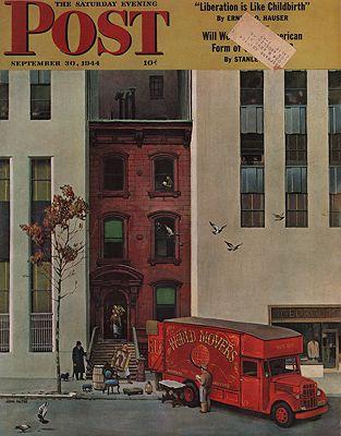 ORIG VINTAGE MAGAZINE COVER/ SATURDAY EVENING POST - SEPTEMBER 30 1944illustrator- John  Falter - Product Image