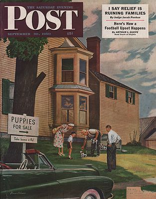ORIG VINTAGE MAGAZINE COVER/ SATURDAY EVENING POST -SEPTEMBER 30 1950illustrator- Stevan  Dohanos - Product Image