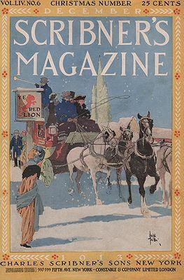 ORIG VINTAGE MAGAZINE COVER/ SCRIBNERS MAGAZINE DECEMBER 1913illustrator- Adolph  Treidler - Product Image