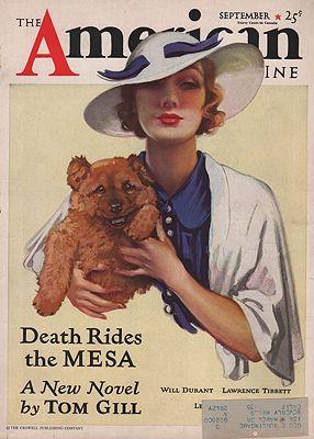 ORIG VINTAGE MAGAZINE COVER/ THE AMERICAN MAGAZINE - SEPTEMBER 1933illustrator- Martha  Sawyers - Product Image
