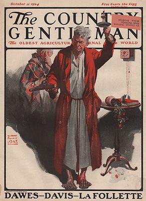 ORIG VINTAGE MAGAZINE COVER/ THE COUNTRY GENTLEMAN - OCTOBER 11 1924illustrator- William Meade  Prince - Product Image