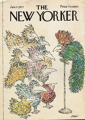 ORIG VINTAGE MAGAZINE COVER/ THE NEW YORKER - JANUARY 17 1977illustrator- Ed  Koren - Product Image