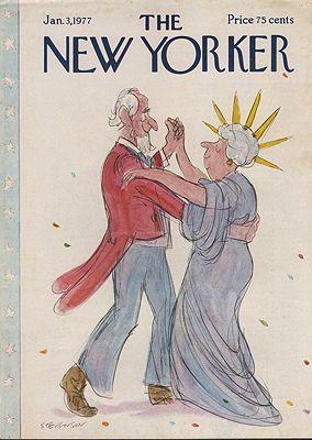 ORIG VINTAGE MAGAZINE COVER/ THE NEW YORKER - JANUARY 3 1977illustrator- James  Stevenson - Product Image