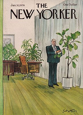 ORIG VINTAGE MAGAZINE COVER/ THE NEW YORKER - JANUARY 30 1978illustrator- Charles  Saxon - Product Image