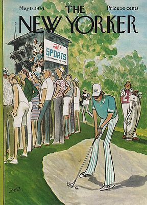 ORIG VINTAGE MAGAZINE COVER/ THE NEW YORKER - MAY 13, 1974illustrator- Charles  Saxon - Product Image