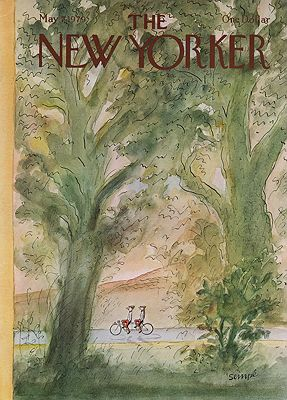 ORIG VINTAGE MAGAZINE COVER/ THE NEW YORKER - MAY 7 1979illustrator- Jean-Paul  Sempe - Product Image