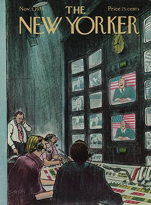 ORIG VINTAGE MAGAZINE COVER/ THE NEW YORKER - NOVEMBER 1 1976illustrator- Charles  Saxon - Product Image