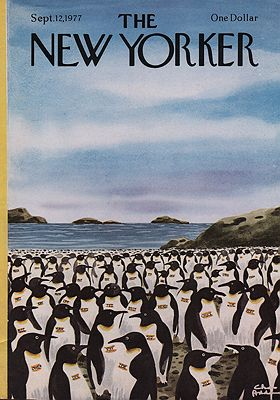 ORIG VINTAGE MAGAZINE COVER/ THE NEW YORKER - SEPTEMBER 12 1977illustrator- Chas  Addams - Product Image