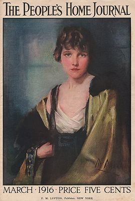 ORIG VINTAGE MAGAZINE COVER/ THE PEOPLE'S HOME JOURNAL - MARCH 1916illustrator- Neysa  McMein - Product Image
