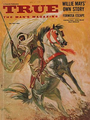 ORIG VINTAGE MAGAZINE COVER/ TRUE THE MAN'S MAGAZINE - MAY 1955illustrator- William  Reusswig - Product Image
