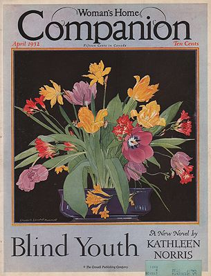 ORIG VINTAGE MAGAZINE COVER/ WOMAN'S HOME COMPANION - APRIL 1932illustrator- Elizabeth Lansdell  Hammell - Product Image