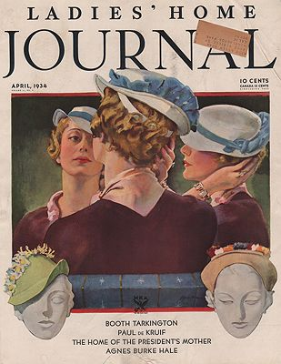 ORIG VINTAGE MAGAZINE COVER/ WOMANS HOME COMPANION - APRIL 1934illustrator- Roy  Spreter - Product Image