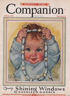 ORIG VINTAGE MAGAZINE COVER/ WOMAN'S HOME COMPANION - APRIL 1935illustrator- Maud Tousey  Fangel - Product Image
