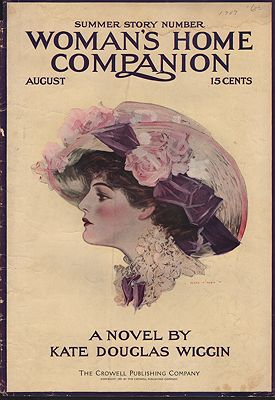 ORIG VINTAGE MAGAZINE COVER/ WOMAN'S HOME COMPANION - AUGUST 1909illustrator- Henry  Hutt - Product Image