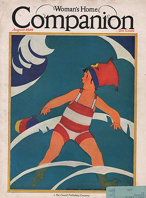 ORIG VINTAGE MAGAZINE COVER/ WOMAN'S HOME COMPANION - AUGUST 1929illustrator- Maginel Wright  Barney - Product Image