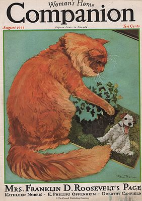 ORIG VINTAGE MAGAZINE COVER/ WOMAN'S HOME COMPANION - AUGUST 1933illustrator- Diana  Thorne - Product Image