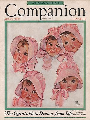 ORIG VINTAGE MAGAZINE COVER/ WOMAN'S HOME COMPANION - AUGUST 1935illustrator- Maud Tousey  Fangel - Product Image