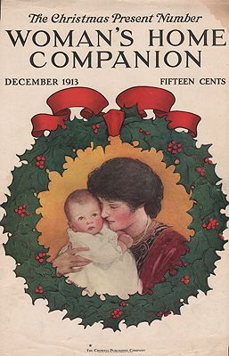 ORIG VINTAGE MAGAZINE COVER/ WOMAN'S HOME COMPANION - DECEMBER 1913illustrator- Jessie Wilcox  Smith - Product Image