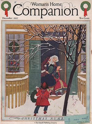 ORIG VINTAGE MAGAZINE COVER/ WOMAN'S HOME COMPANION - DECEMBER 1927illustrator- Maginel Wright  Barney - Product Image