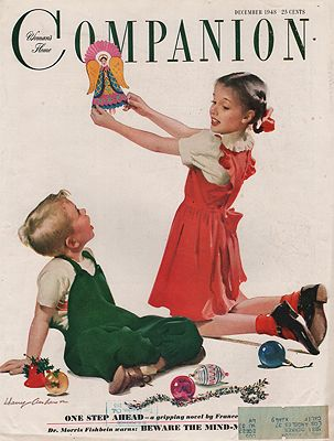 ORIG VINTAGE MAGAZINE COVER/ WOMAN'S HOME COMPANION - DECEMBER 1948illustrator- Harry   Anderson - Product Image