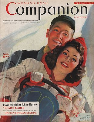 ORIG VINTAGE MAGAZINE COVER/ WOMAN'S HOME COMPANION - FEBRUARY 1940illustrator- Edwin  Henry - Product Image