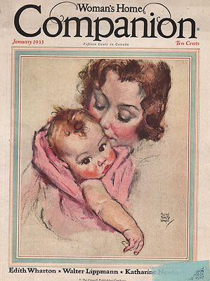 ORIG VINTAGE MAGAZINE COVER/ WOMAN'S HOME COMPANION - JANUARY 1933illustrator- Maud Tousey  Fangel - Product Image