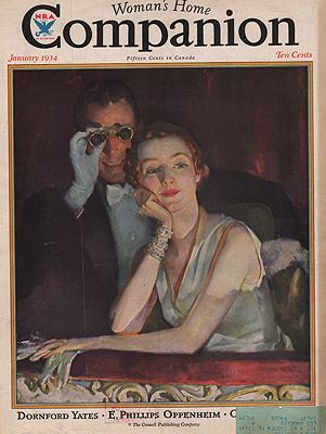 ORIG VINTAGE MAGAZINE COVER/ WOMANS HOME COMPANION - JANUARY 1934illustrator- Roy  Spreter - Product Image