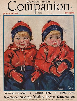 ORIG VINTAGE MAGAZINE COVER/ WOMAN'S HOME COMPANION - JANUARY 1935illustrator- Maud Tousey  Fangel - Product Image