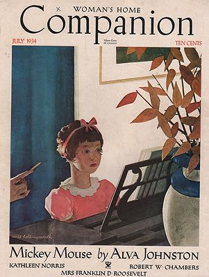 ORIG VINTAGE MAGAZINE COVER/ WOMAN'S HOME COMPANION - JULY 1934illustrator- Will  Hollingsworth - Product Image