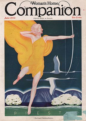 ORIG VINTAGE MAGAZINE COVER/ WOMAN'S HOME COMPANION - JUNE 1932illustrator- William  Welsh - Product Image