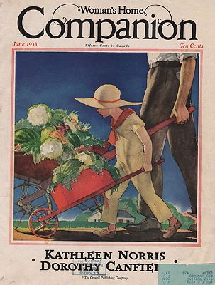 ORIG VINTAGE MAGAZINE COVER/ WOMAN'S HOME COMPANION - JUNE 1933illustrator- Will  Hollingsworth - Product Image