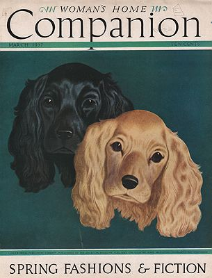 ORIG VINTAGE MAGAZINE COVER/ WOMAN'S HOME COMPANION - MARCH 1937illustrator- John  Atherton - Product Image