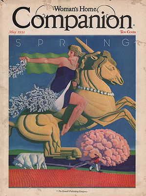 ORIG VINTAGE MAGAZINE COVER/ WOMAN'S HOME COMPANION - MAY 1931illustrator- William   Welsh - Product Image