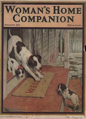 ORIG VINTAGE MAGAZINE COVER/ WOMAN'S HOME COMPANION - NOVEMBER 1924illustrator- Warren  Davis - Product Image