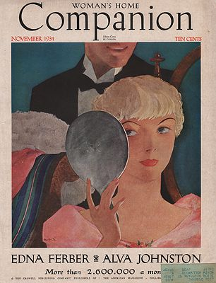 ORIG VINTAGE MAGAZINE COVER/ WOMAN'S HOME COMPANION - NOVEMBER 1934illustrator- Will  Hollingsworth - Product Image