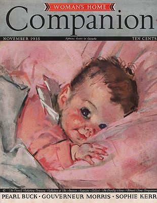 ORIG VINTAGE MAGAZINE COVER/ WOMAN'S HOME COMPANION - NOVEMBER 1935illustrator- Maud Tousey  Fangel - Product Image