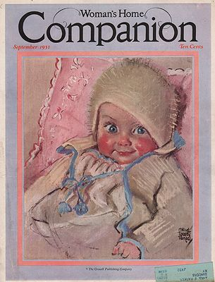 ORIG VINTAGE MAGAZINE COVER/ WOMAN'S HOME COMPANION - SEPTEMBER 1931illustrator- Maud Tousey  Fangel - Product Image