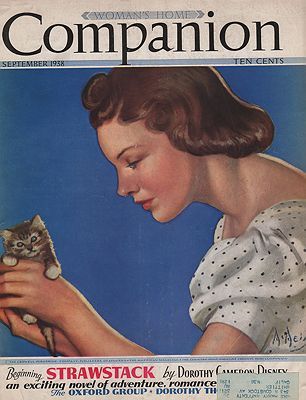 ORIG VINTAGE MAGAZINE COVER/ WOMAN'S HOME COMPANION SEPTEMBER 1938illustrator- N/A - Product Image