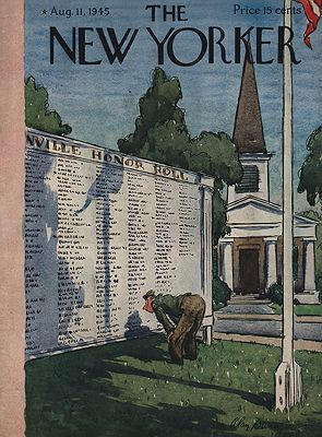 ORIG VINTAGE MAGAZINE COVER/THE NEW YORKER - AUGUST 11 1945illustrator- Alan  Dunn - Product Image