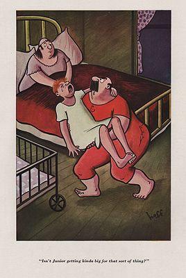 ORIG VINTAGE MAGAZINE ILLUSTRATION - ESQUIRE AUGUST 1937 illustrator- Syd  Hoff - Product Image