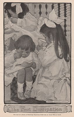 ORIG. VINTAGE MAGAZINE ILLUSTRATION - THE FIRST DISSIPATIONillustrator- Jessie Wilcox  Smith - Product Image