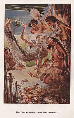 ORIG VINTAGE MAGAZINE ILLUSTRATION / ESQUIRE AUGUST 1934illustrator- Everett  Shinn - Product Image
