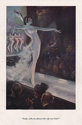 ORIG VINTAGE MAGAZINE ILLUSTRATION / ESQUIRE JUNE 1934illustrator- Everett  Shinn - Product Image