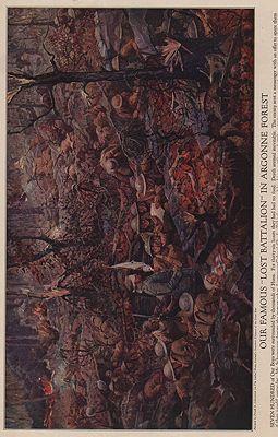 ORIG VINTAGE MAGAZINE ILLUSTRATION / OUR FAMOUS LOST BATTALION IN ARGONNE FORESTillustrator- Frank E.  Schoonover - Product Image