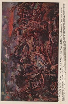 ORIG VINTAGE MAGAZINE ILLUSTRATION / THE GREATEST BATTLE OF THE WAR - THE ARGONNEillustrator- Gayle Porter  Hoskins - Product Image