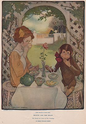 ORIG VINTAGE MAGAZINE ILLUSTRATION/ COLLIER'S MAY 30 1908illustrator- Jessie Wilcox  Smith - Product Image