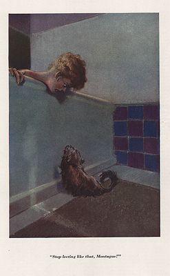 ORIG VINTAGE MAGAZINE ILLUSTRATION/ COLOR CARTOON BY EVERETT SHINNillustrator- Everett  Shinn - Product Image