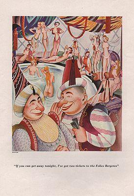 ORIG VINTAGE MAGAZINE ILLUSTRATION/ ESQUIRE AUTUMN 1933illustrator- Constantin  Alajalov - Product Image