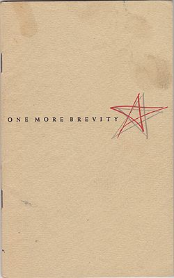 One More Brevity (INSCRIBED COPY)Frost, Robert - Product Image
